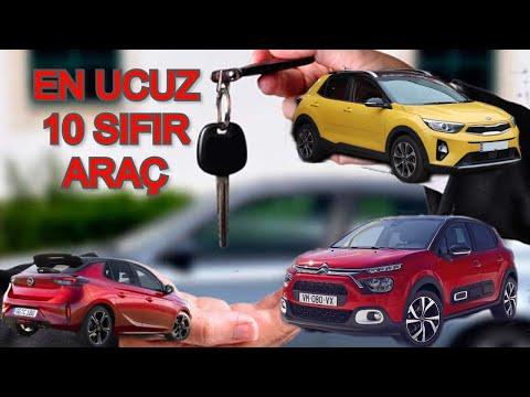 2021 Türkiye'de En Ucuz 10 Sıfır Araç Fiyatları