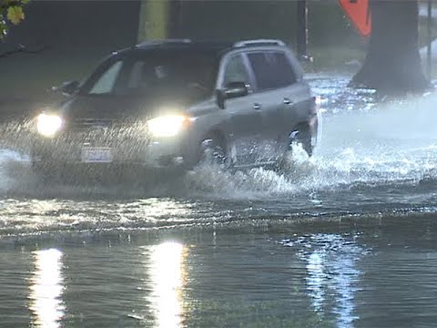 Martin Luther King Jr. Drive flooded from overnight rain