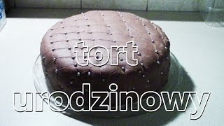 """""""Skórzany"""" tort urodzinowy - kajmanowa"""
