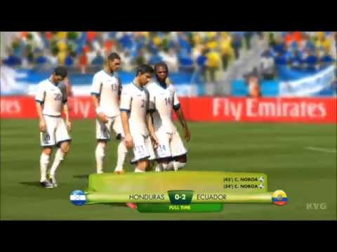 2014 FIFA World Cup Brazil - Honduras vs Ecuador Gameplay [HD]