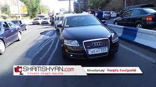 Խոշոր ու շղթայական ավտովթար Երևանում  բախվել են 3 Toyota ները, Audi A6 ը, Mercedes C230 ը և BMW X5 ը