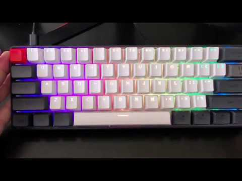 Brown Switch Yunzii SK61 Mini Mechanical Gaming Keyboard RGB Backlit PBT Key 60/% Layout
