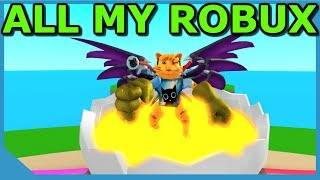 Spending All My Robux In Roblox Egg Farm Simulator