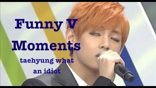 Funny Moments | BTS V (Bangtan Bomb, Weekly Idol, Interviews, Rookie King)