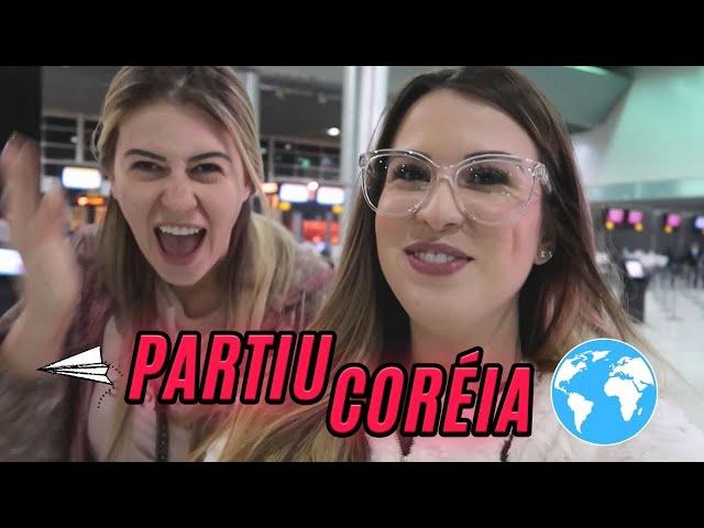 VLOG CORÉIA 1: AVIÃO DE 2 ANDARES,  TOMAMOS BANHO NO AEROPORTO, ÁREA VIP