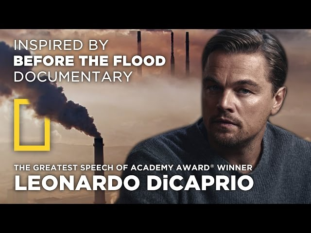 The Greatest Speech Of Leonardo DiCaprio | Climate Change | by MirekLeFou
