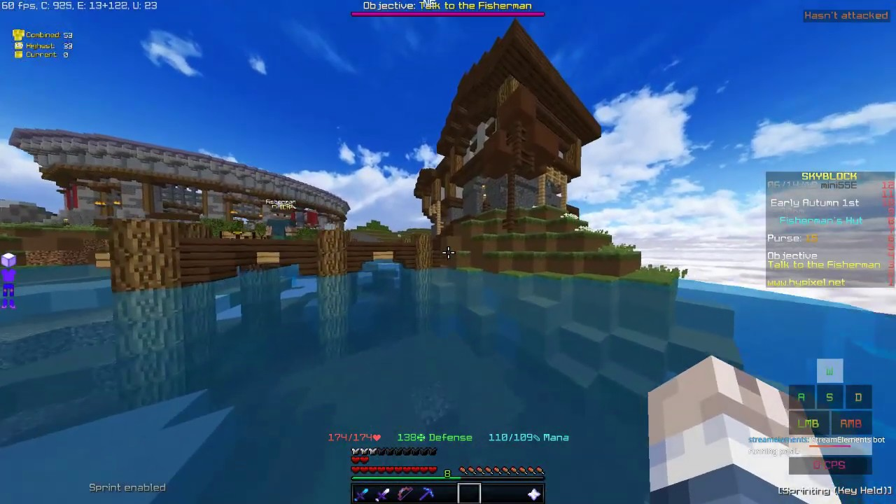Hypixel Skyblock grinding xp, leves & 12 Hour streams