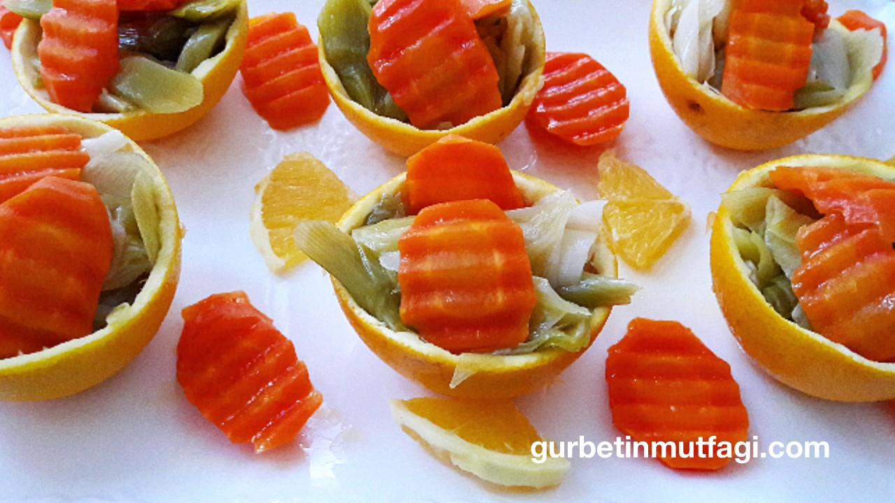Zeytinyağlı Portakallı Pırasa Tarifi