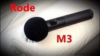 Rode M3 Demonstration - Part 1 - Boomed, 48V Phantom Power