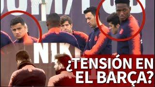 Messi y Suárez hicieron esperar a la plantilla 3', ojo a las caras...| Diario AS