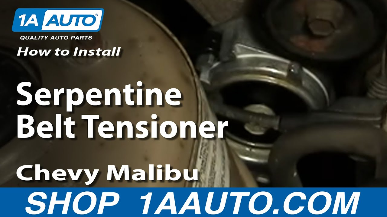 How To Replace Serpentine Belt Tensioner 97 06 Chevy Malibu Youtube
