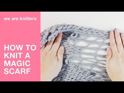 how to knit a magic scarf we are knitters youtube. Black Bedroom Furniture Sets. Home Design Ideas
