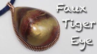 Faux Tiger's eye Stone - Polymer clay tutorial