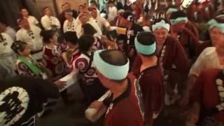 平成28年 津久井 中野神社 例大祭「夏祭り)本社神輿宮入道中です。