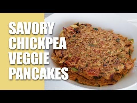 Savory Chickpea Veggie Pancakes Recipe [vlog] + LOTS OF TIPS | Nutritarian, Vegan, Gluten-Free