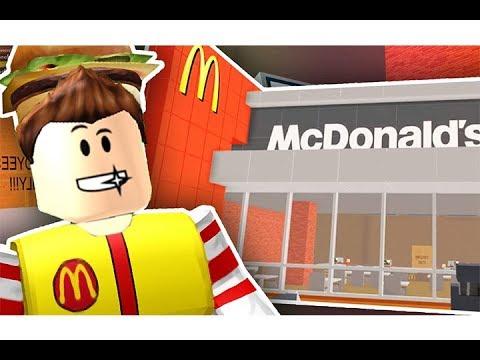 بناء مطعم ماكدونالدز لانتاج الهمبرجر فى لعبة roblox !!