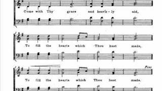 Lambillotte-Bass-Come Holy Ghost-Score.wmv