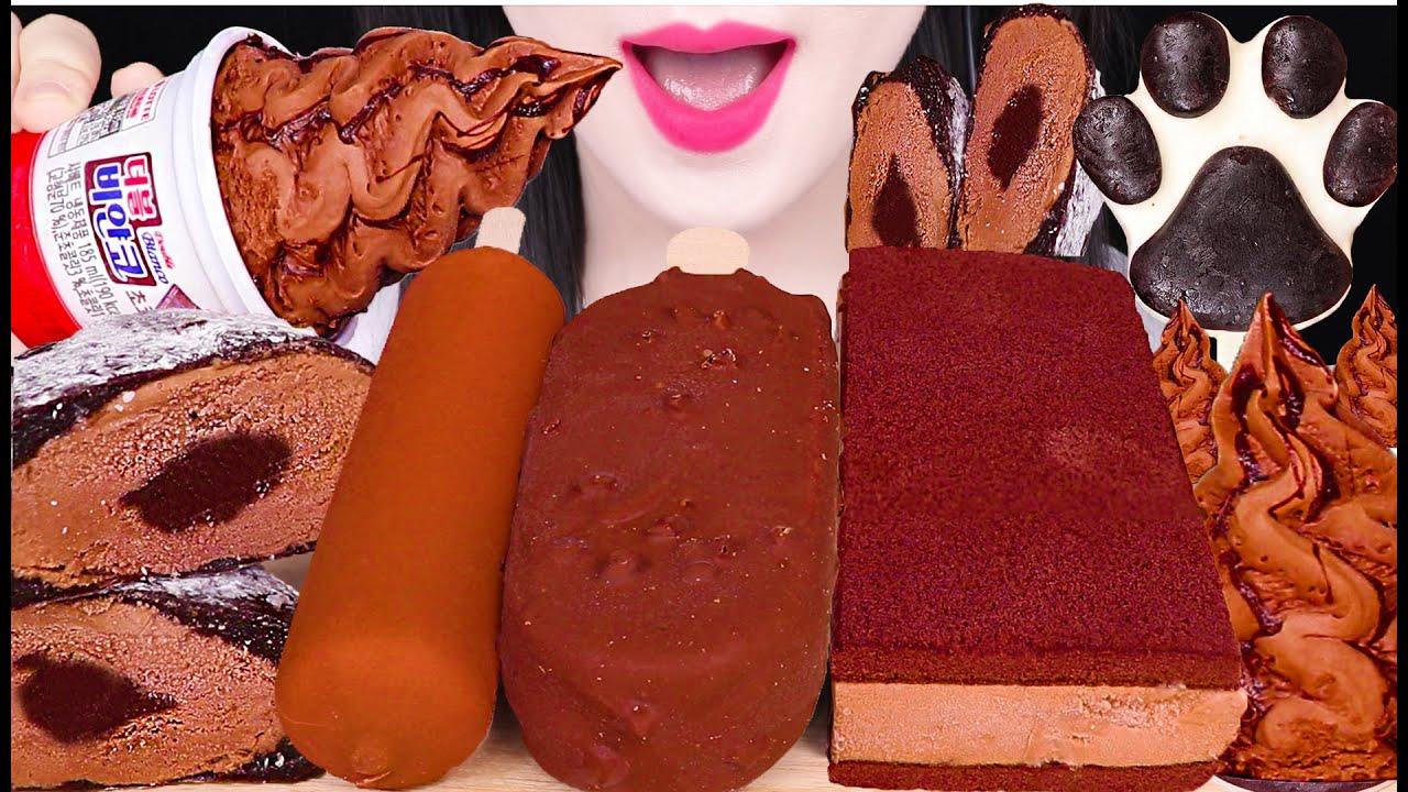 ASMR CHOCOLATE ICE CREAM *MAGNUM MINT, DARK&MILK CHOCOLATE ICE CREAM 초콜릿 아이스크림 먹방 EATING SOUNDS