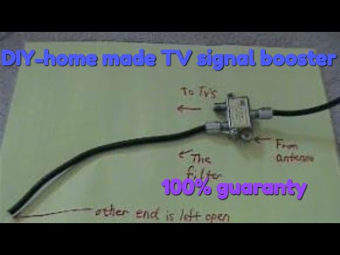 Easy Builds Diy Home Made Cable Tv Signal Booster 100 Working Youtube