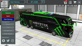 Livery Bussid Monster Energy Hd Youtube