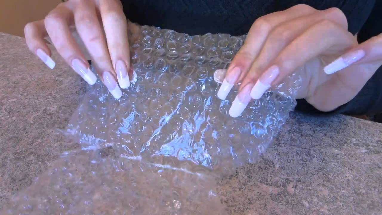 Asmr Dani 89 Wrapping Paper With Her Long Nails With
