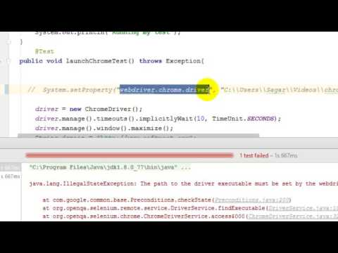 webdriver chrome driver system property in Selenium - YouTube