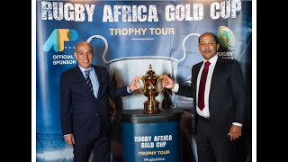 New Rugby Africa Gold Cup's perpetual trophy unveiled today at AIPS congress in Brussels