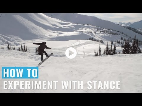 Veja o video – How To Experiment With Stance On A Snowboard
