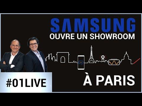 On vous fait découvrir le nouveau showroom de Samsung à Paris - 01LIVE HEBDO #192