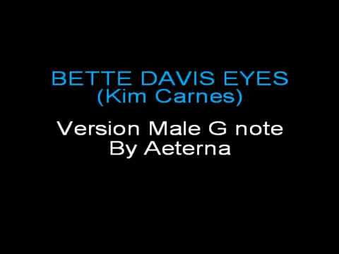 Karaoke Bette Davis Eyes - Verison Male G note - Kim Carnes