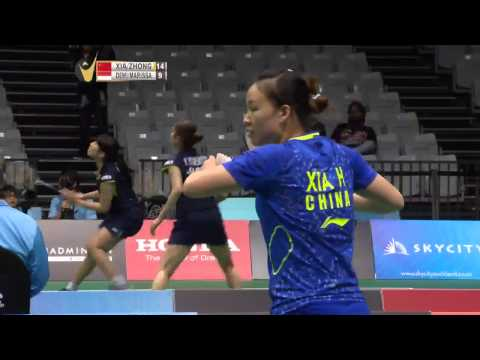Xia Huan/Zhong Q.X vs K.Dewi/V.Marissa | WD SF Match 4 Skycity New Zealand Open 2015