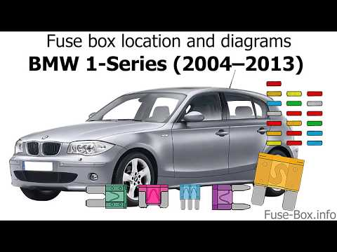 where are fuses in bmw 1 series (e81 e82 e87 e88 fusebox location BMW E84