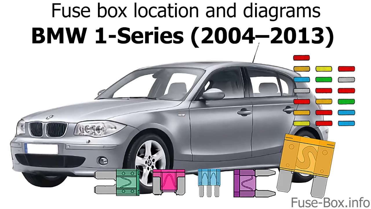 fuse box location and diagrams: bmw 1-series (2004–2013)