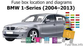 Fuse box location and diagrams: BMW 1-Series (2004–2013) - YouTubeYouTube
