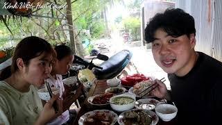 Hồi tết 3 cô cháu càn quét hết nồi thịt kho tàu và khổ qua hầm trước khi đi Hàn Quốc 🇻🇳283