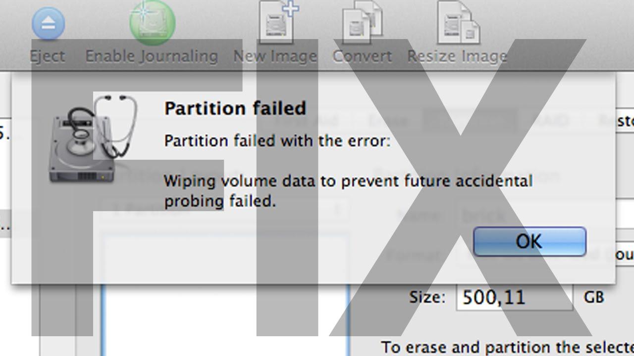 Partition Failed How to Fix Mac - Yosemite OSX - El Capitan OSX - Mavericks  OSX