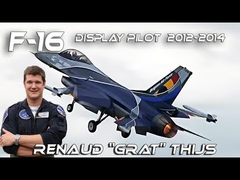 "F-16 2012-2014 Renaud ""GRAT"" Thijs  Belgian Air Force F16 Solo Display Pilot 2013-2014 Retro Clip"