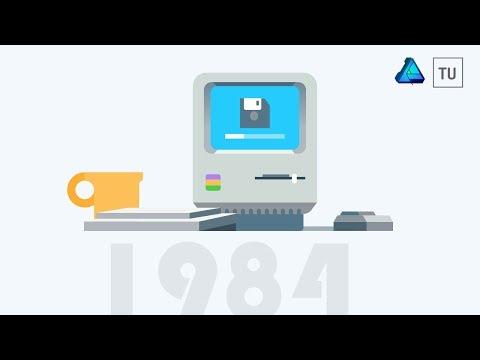 Old School Mac Vector Illustration - Affinity Designer
