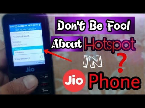 Use Hotspot In Jio Phone ? | Can We share Internet Data From Jio Phone?