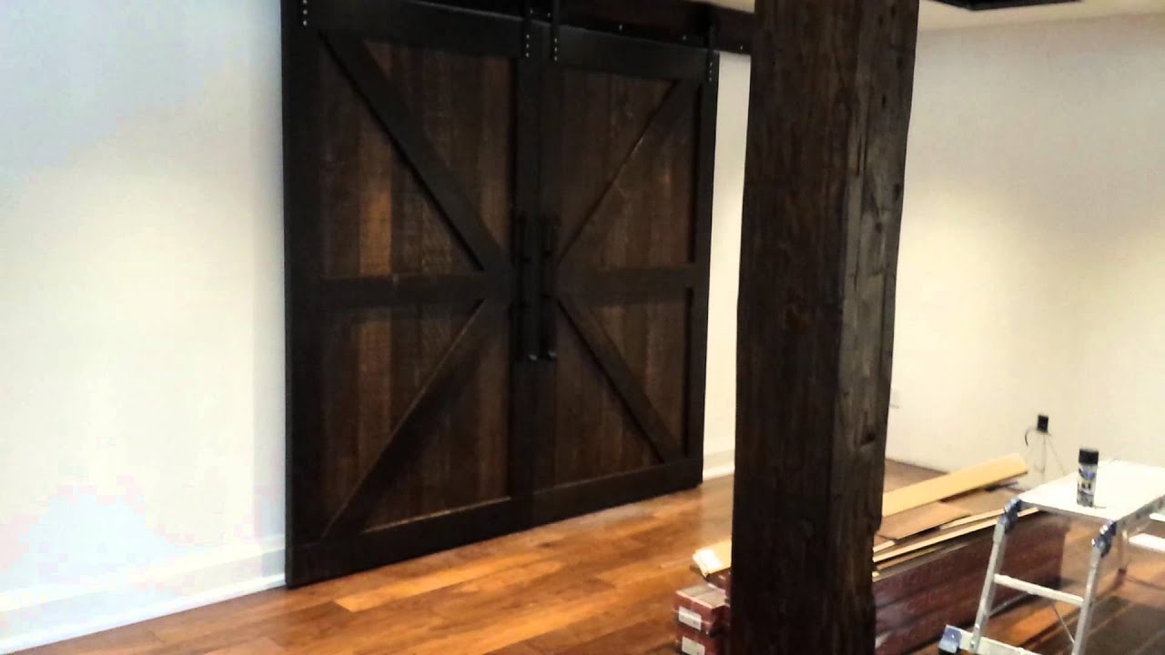 REBARNu0027S Double Z Braced Biparting Barn Doors And Custom Barn Beams!