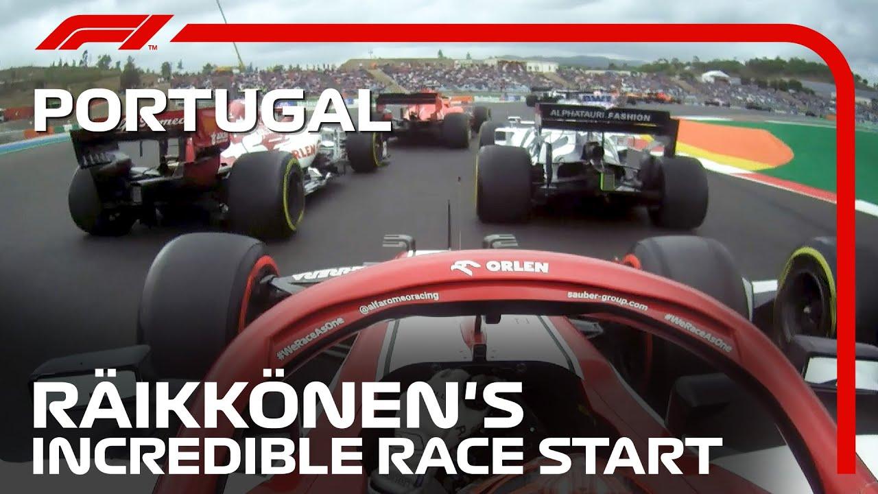 Kimi Raikkonen's Incredible Race Start   2020 Portuguese Grand Prix