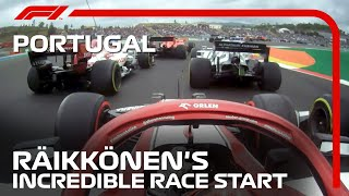 Kimi Raikkonen's Incredible Race Start | 2020 Portuguese Grand Prix