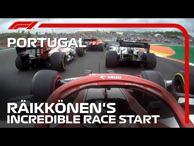 Kimi Raikkonen's Incredible Race Start | 2020 Portuguese Grand Prix