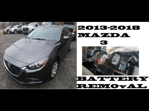 How to change replace Battery Mazda 3 2013-2018