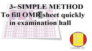 How to fill OMR Sheet quickly in examination hall  || Entrance Fear || easy2crack