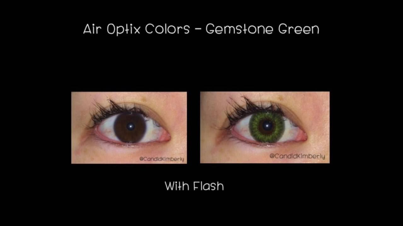Air Optix Colors On Dark Eyes Gemstone Green Youtube