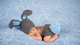 """Шапка """"ЗАЙКА"""".Шапка крючком для новорожденных.Вязание крючком шапки.Детская шапка крючком с ушками"""