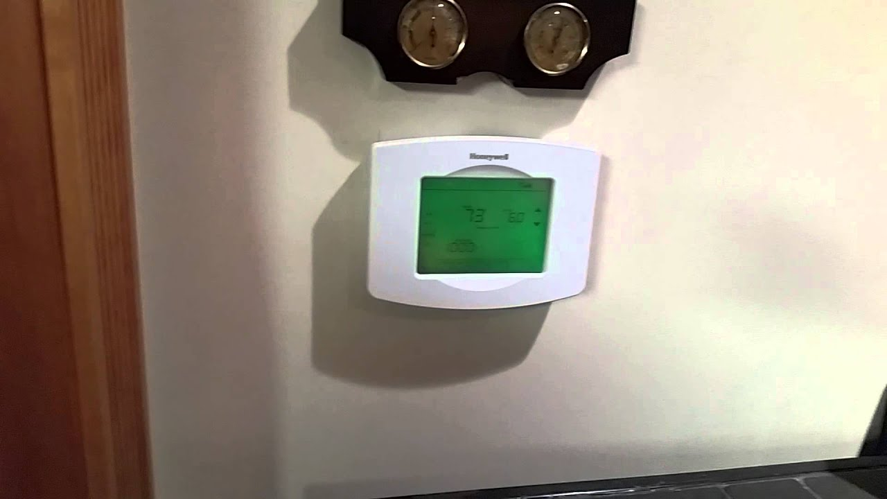 Setup Wifi On Honeywell Rth8580wf Thermostat Verizon Network Th8320wf1029 Wiring Diagram Youtube