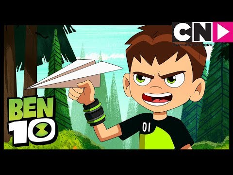 Ben 10 | Heatblast Destroys Paper Planes | Drone On | Cartoon Network