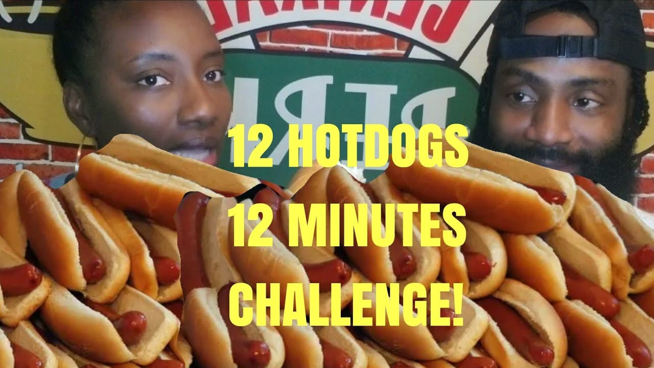 Download PR GANG12 HOTDOGS IN 12 MINUTES CHALLENGE | THE GREEDY COUPLE| DID HE FINISH?🇯🇲